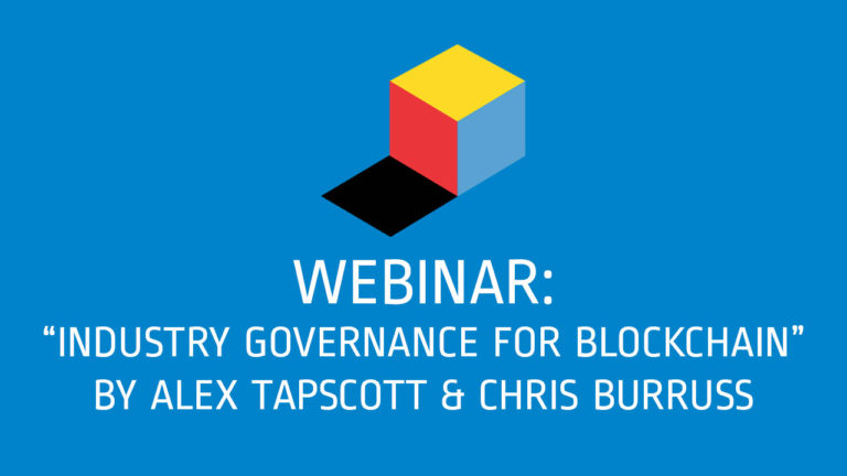 Industry Governance for Blockchain