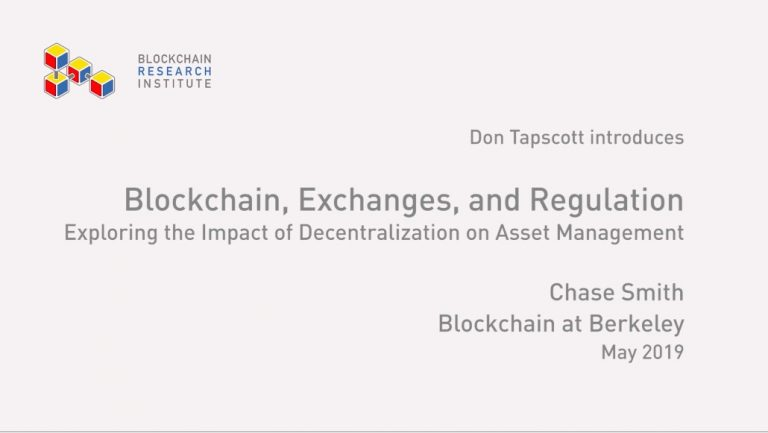 Blockchain, Exchanges and Regulation
