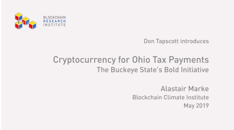 Ohio Cryptocurrency For Taxes