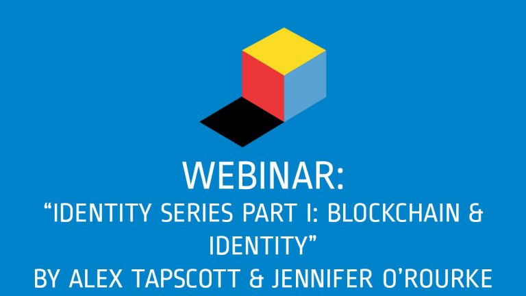 Webinar: Blockchain and Identity
