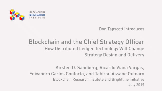 Blockchain the the CSO