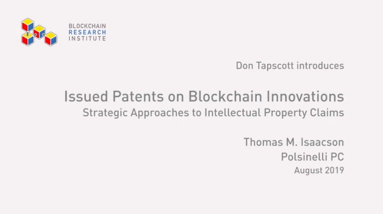 Patents on the Block Chain