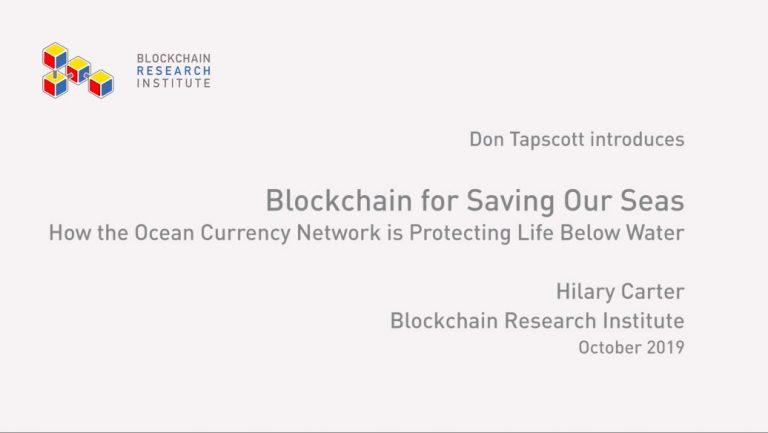 Blockchain For Saving Our Seas
