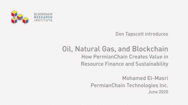 Oil, Natural Gas and Blockchain